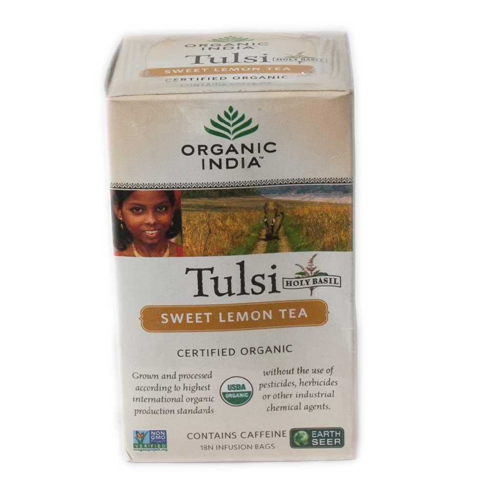 Organic Indian Tulsi Sweet Lemon 18 Tea Bgs