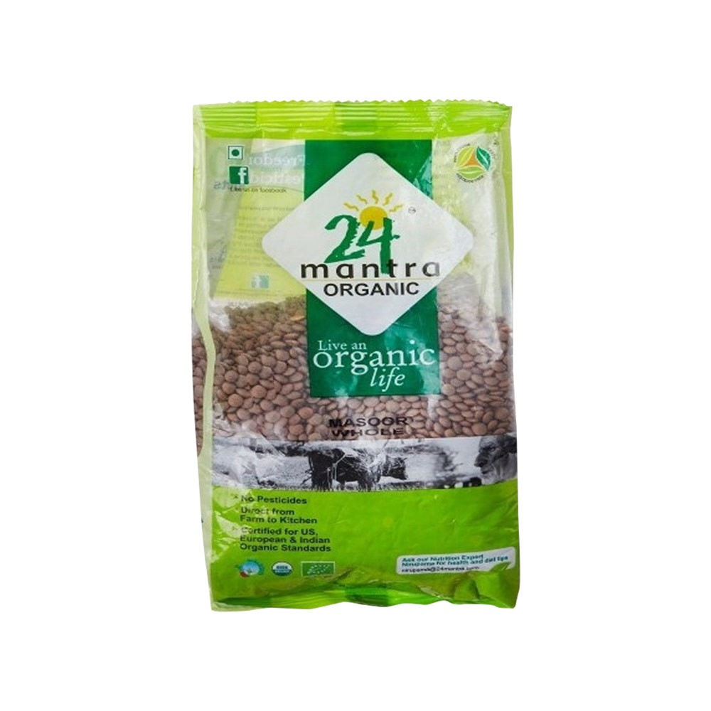 24 Mantra Masoor whole 500 gm