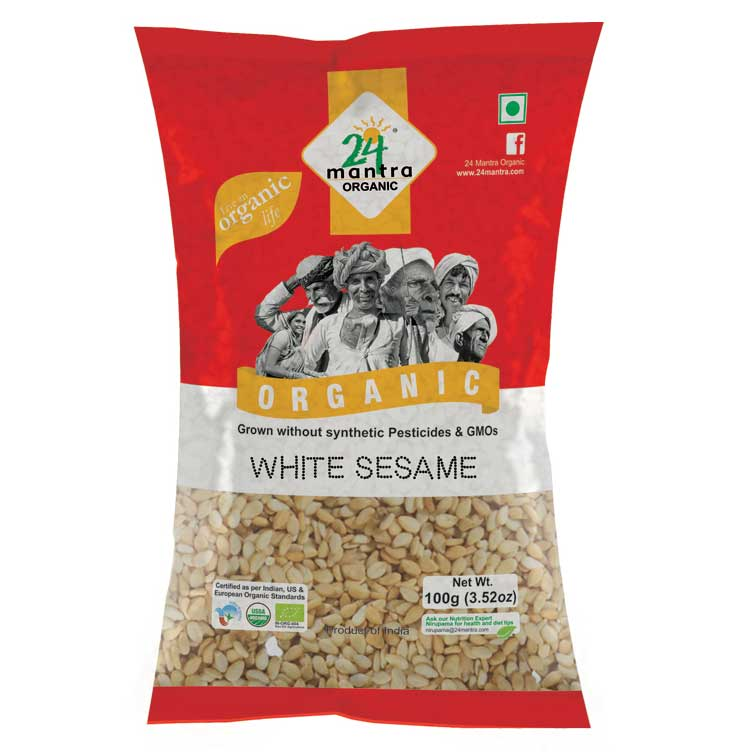 24 Mantra sesame white 100 gm