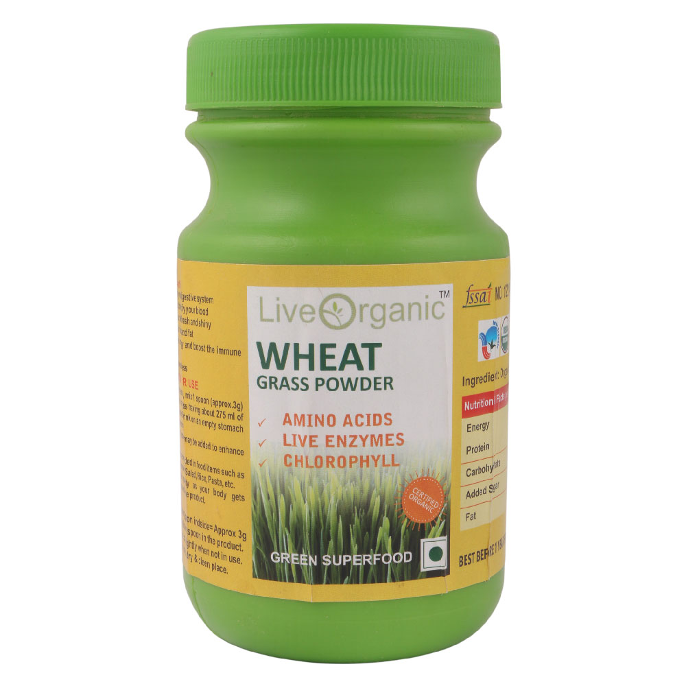 Live Organic Wheat Grass Powder 100 gm