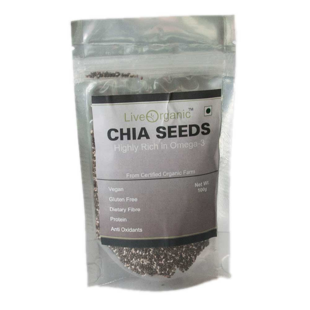 Live Organic Chia seeds 100 gms
