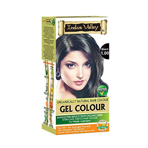 Indus Valley Natural Hair Gel Colour Black