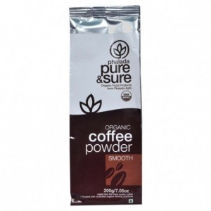 Pure & Sure Organic Coffee Powder Smooth 200g