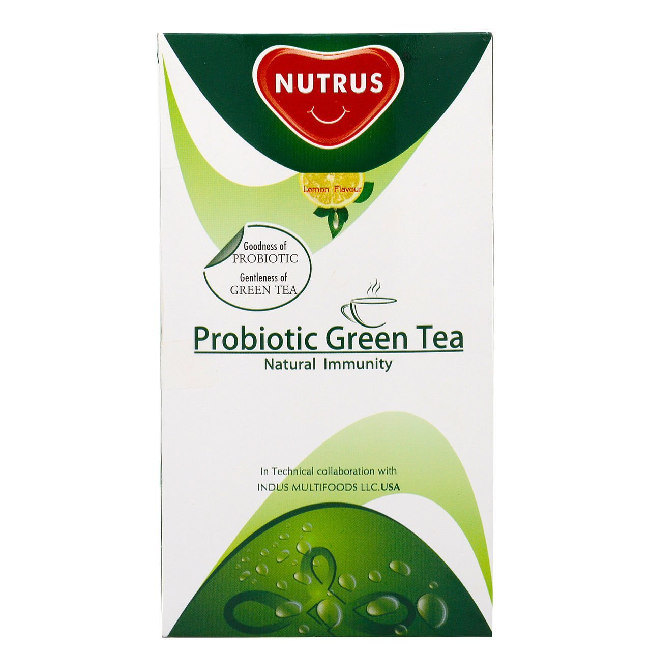 Nutrus Green Tea - Probiotic, 20 Bags