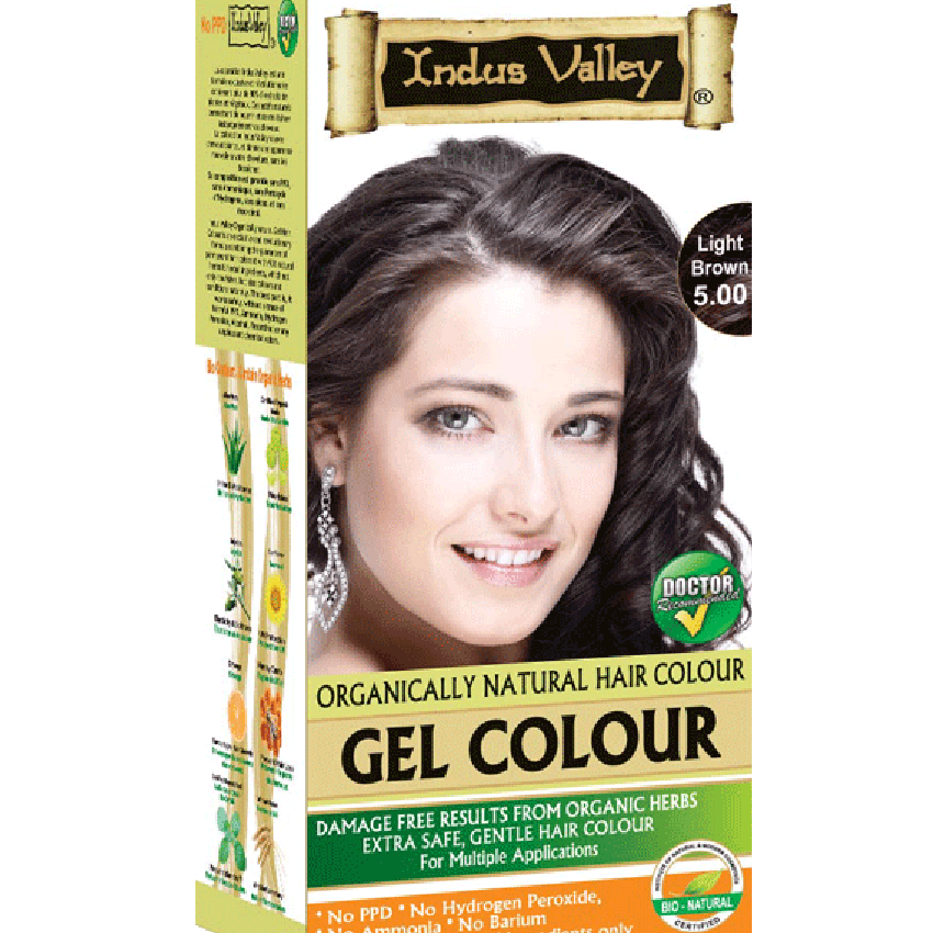 Indus Valley Natural Hair Gel Colour Light Brown