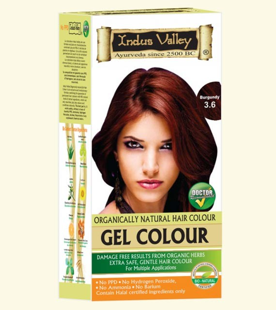 Indus Valley Natural Hair Gel Colour Burgundy