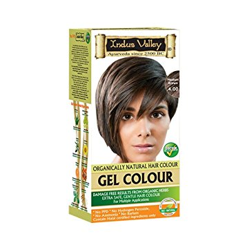 Indus Valley Natural Hair Gel Colour Medium Brown