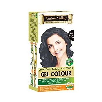 Indus Valley Natural Hair Gel Colour Dark Brown