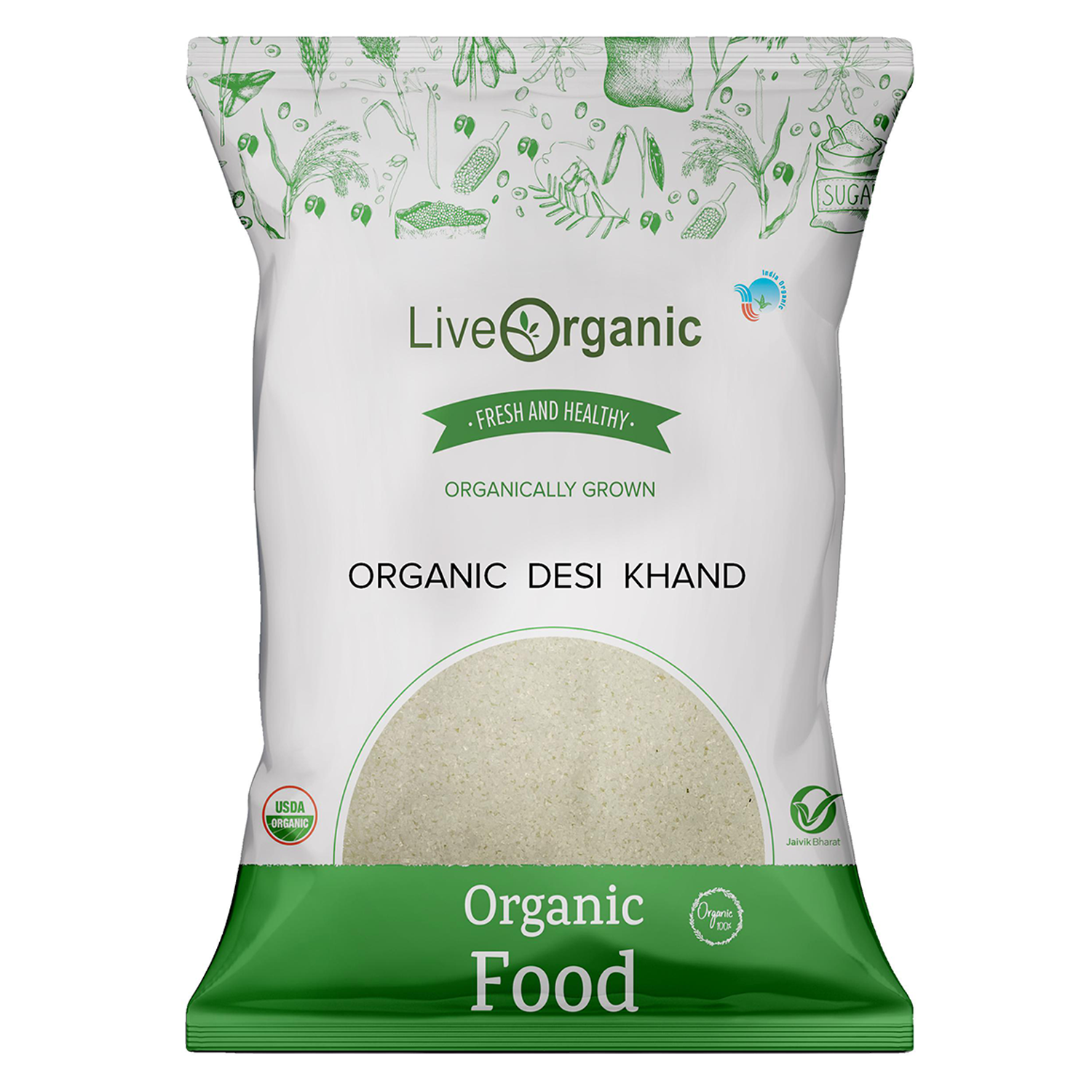 Ecolicious Desi Khand(Raw Sugar)500 gm