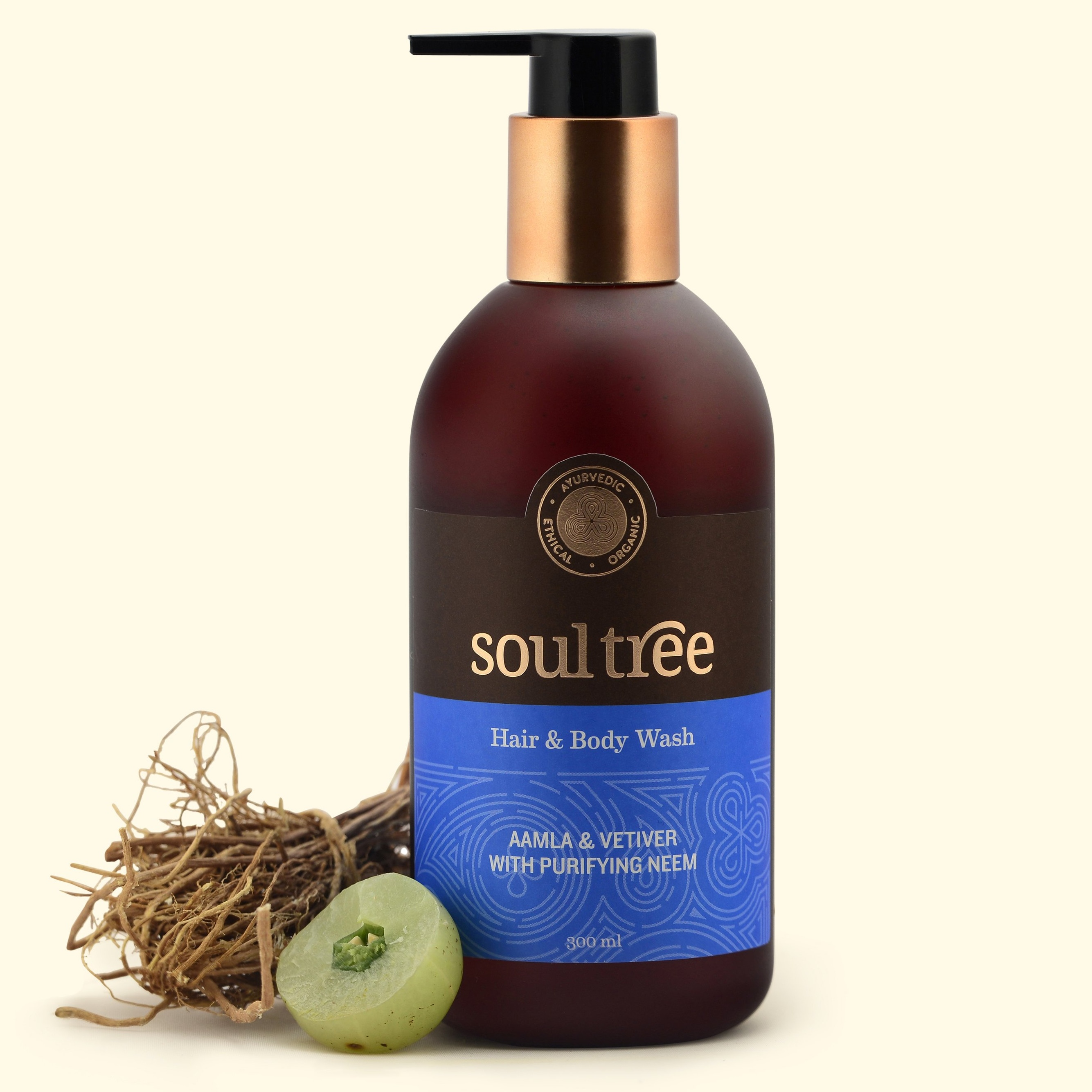Soultree Amla & Vetiver Hair & Body Wash 300 ml
