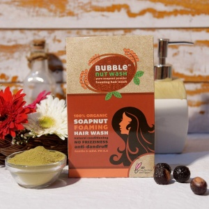 Bubble nut wash Natural Foaming Hair Wash Powder