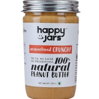 Happy Jars Peanut Butter Crunchy Unsweetened 290 g