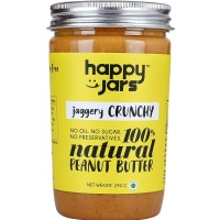 Happy Jars Jaggery Crunchy Peanut Butter 290 gm
