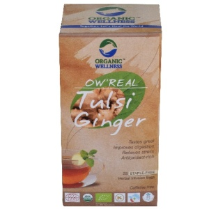 Organic Wellness Tulsi Ginger Tea Bags 25's