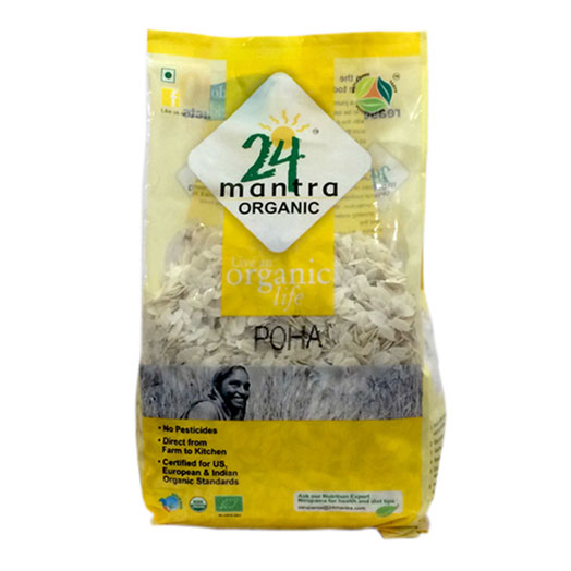 24 Mantra White Poha 500 gm