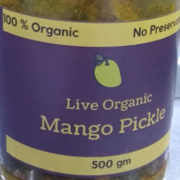 Live Organic Homemade Mango Pickle 500 gm