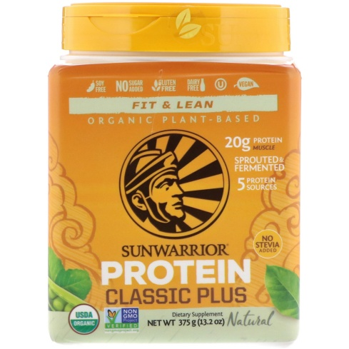 SunWarrior Fit & Lean Protein Natural 375 gm