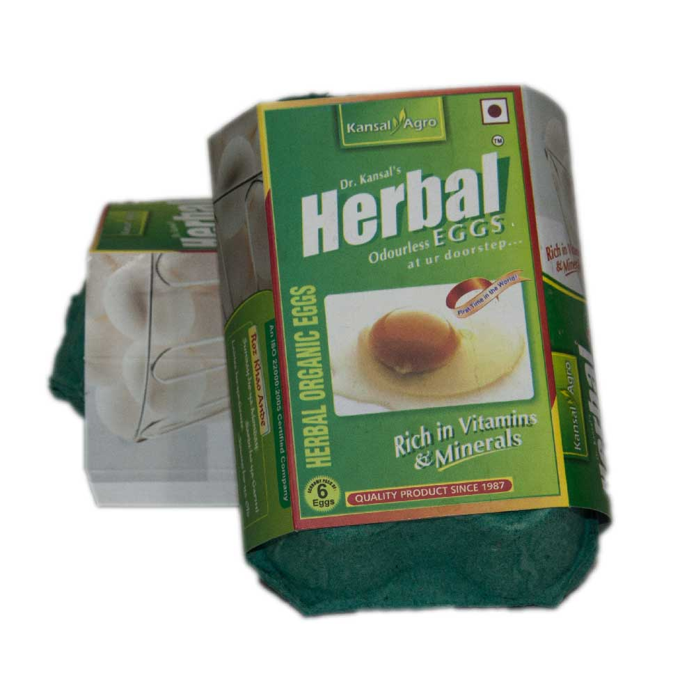 Kansal Herbal Eggs (Pack of 6 eggs)