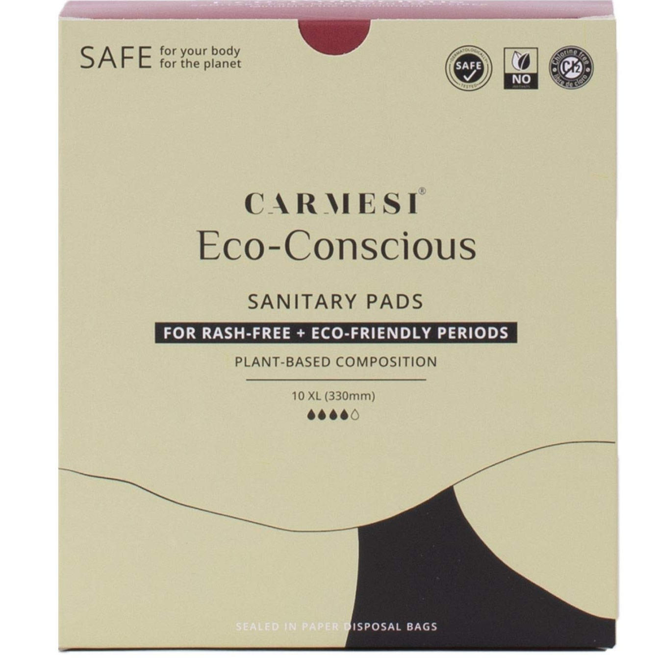 Carmesi Natural Sanitary Pads Regular 30 Pcs