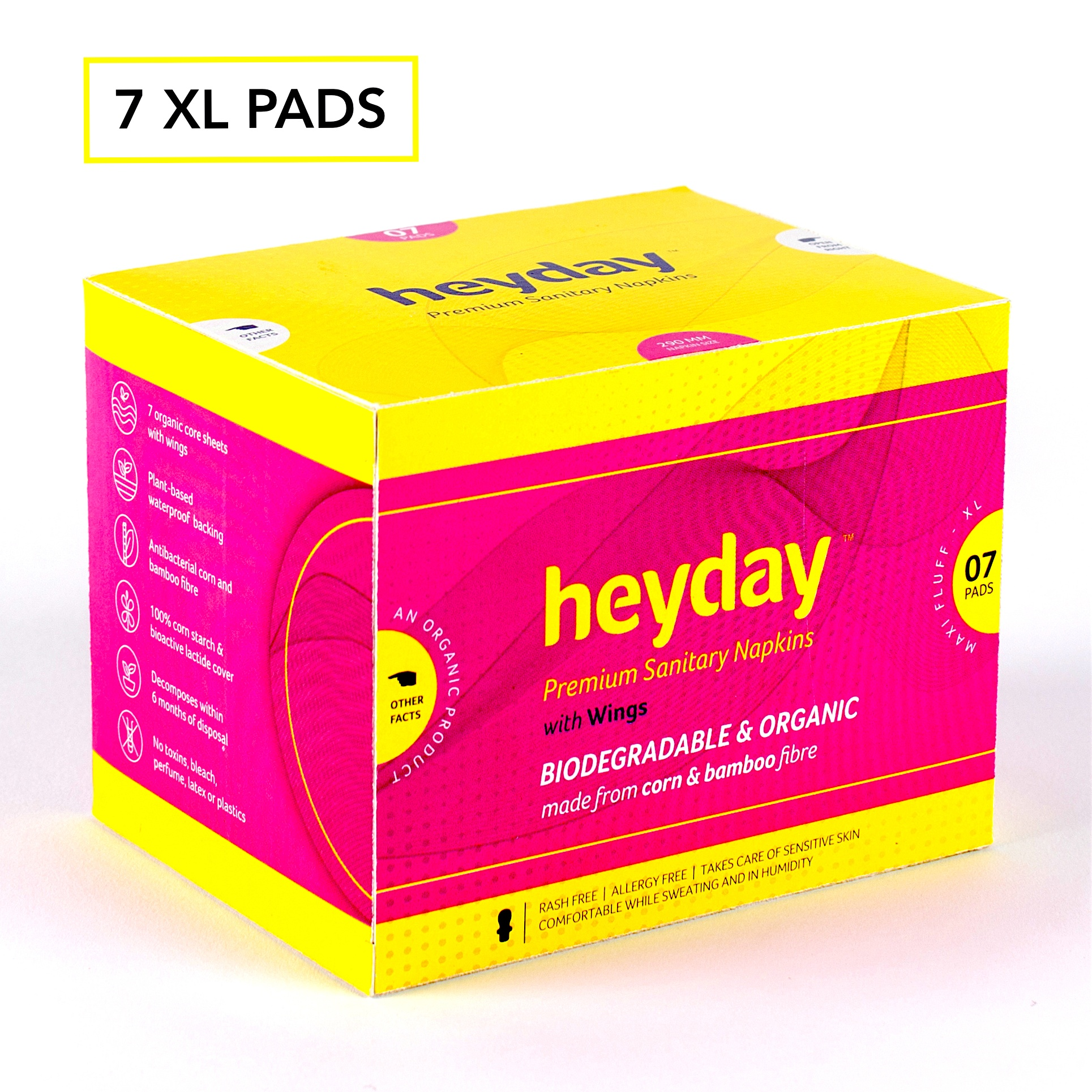 Heyday Sanitary Napkins (Maxi Fluff-7 pack)