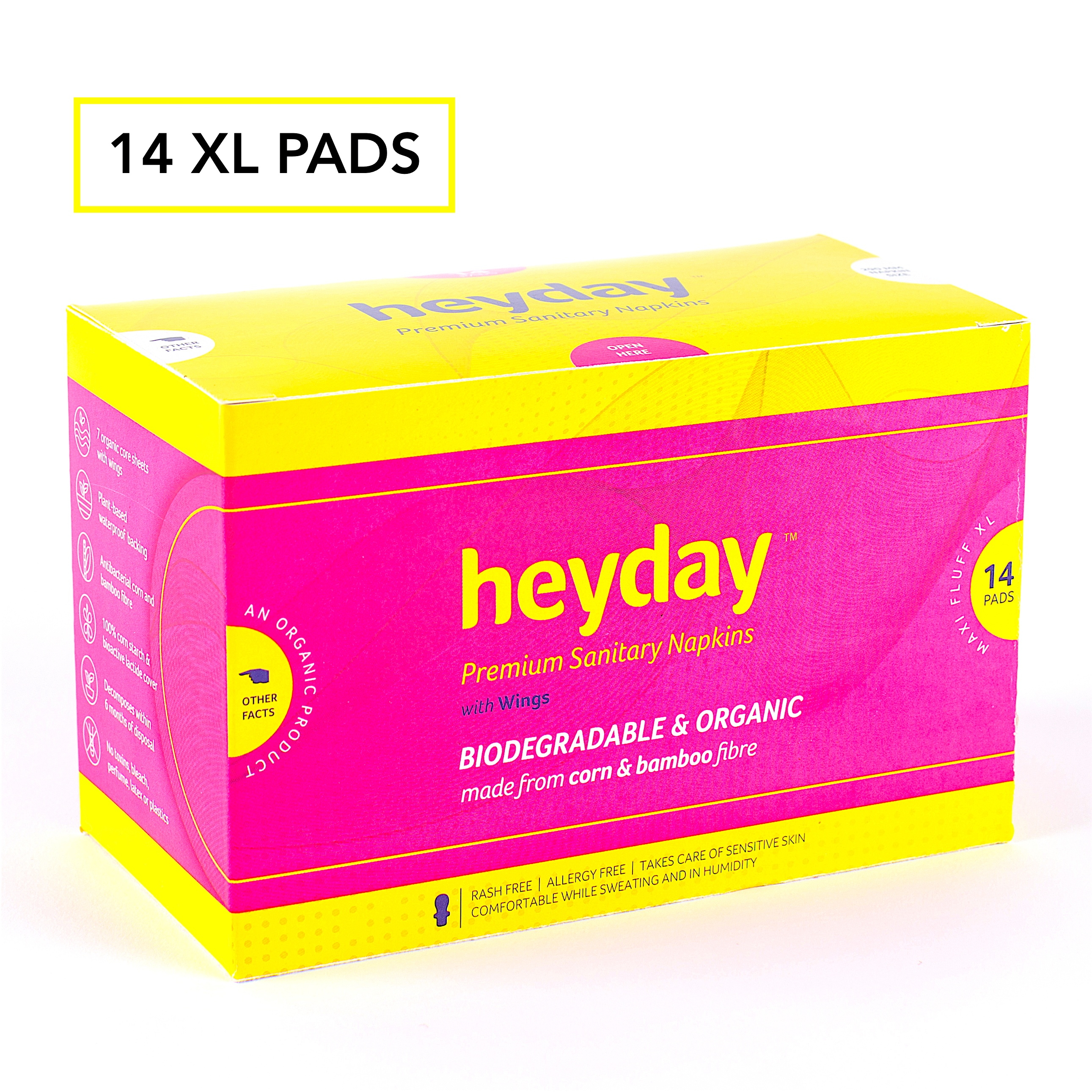Heyday Sanitary Napkins (Maxi Fluff-14 pack)