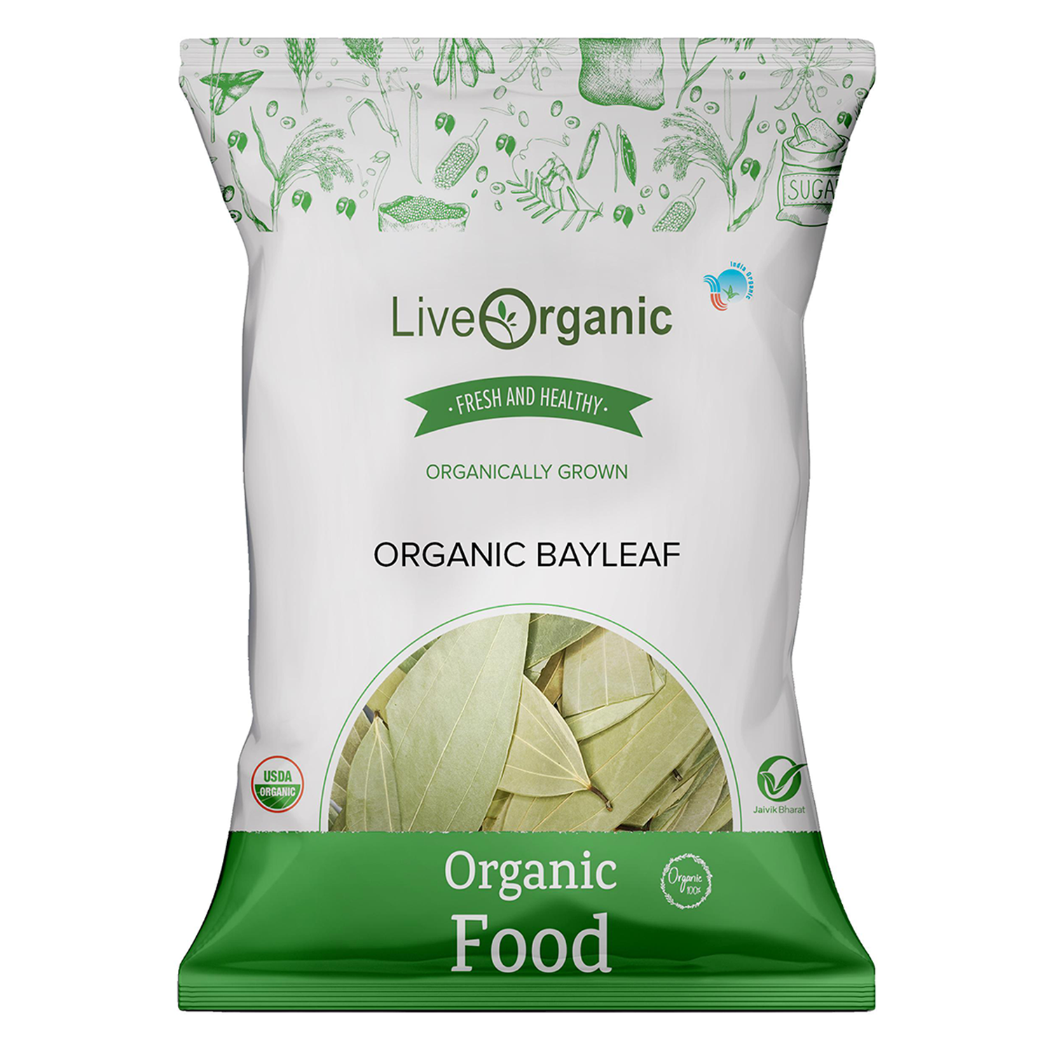 .Live Organic Bay Leaves 25gm