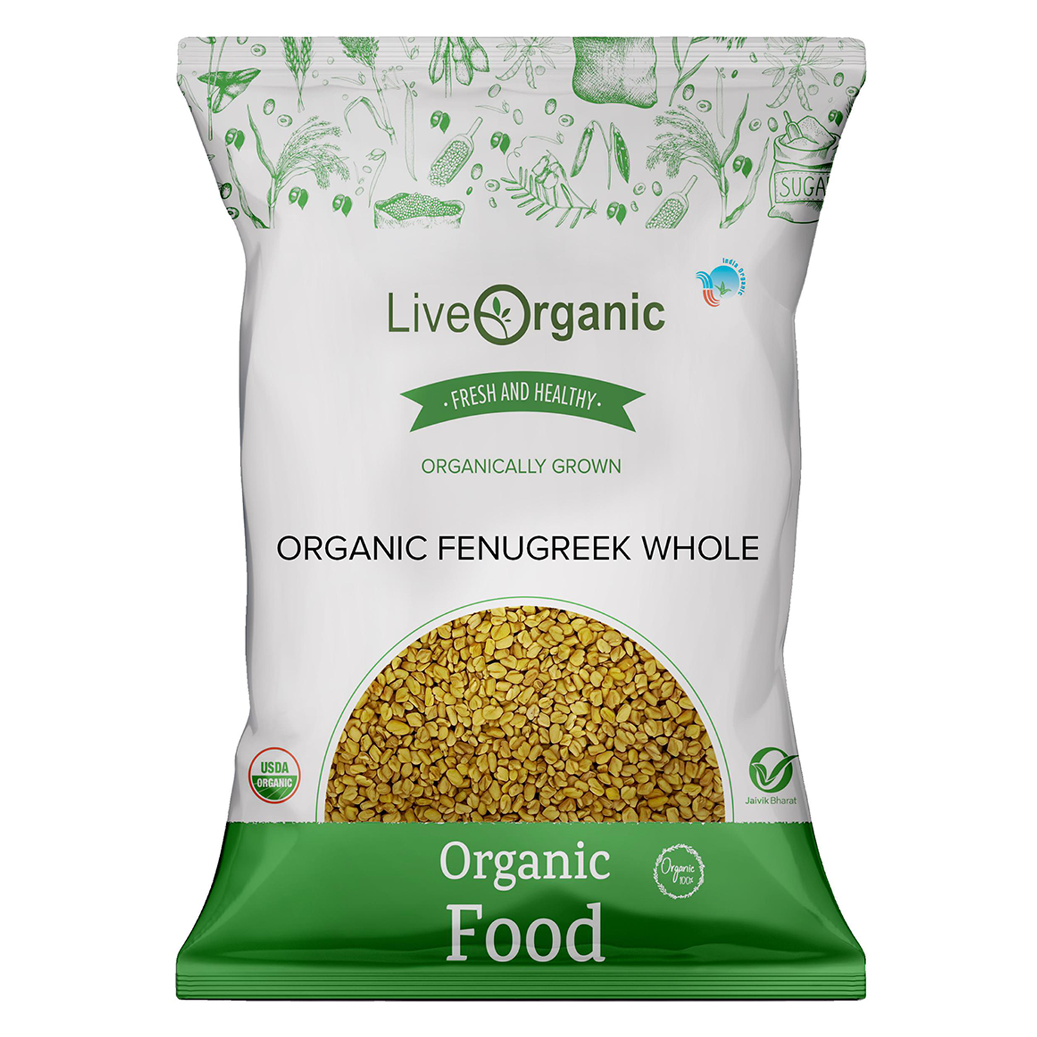 .Live Organic Fenugreek Whole 100G