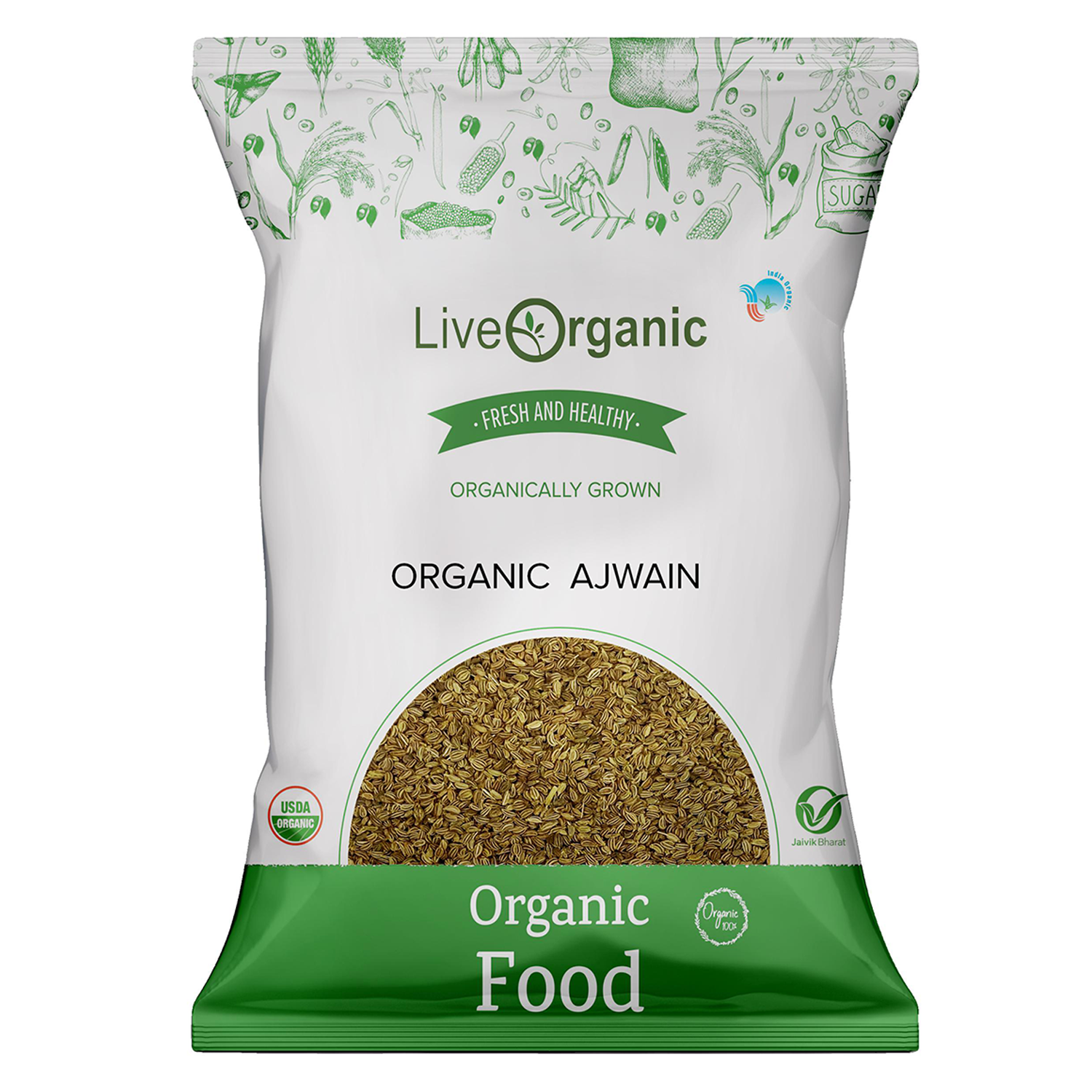 .Live Organic Ajwain Whole 100G