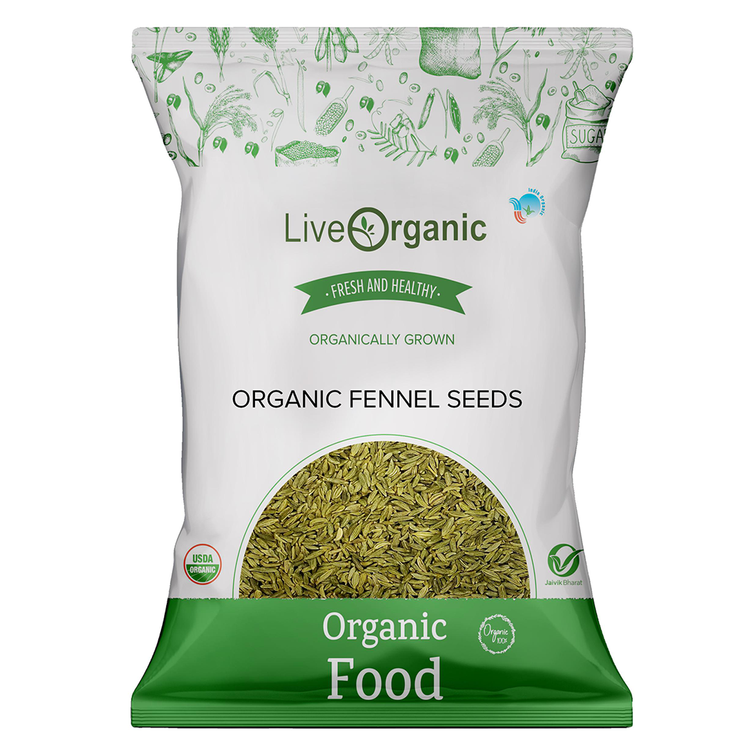 .Live Organic Fennel Whole 100G