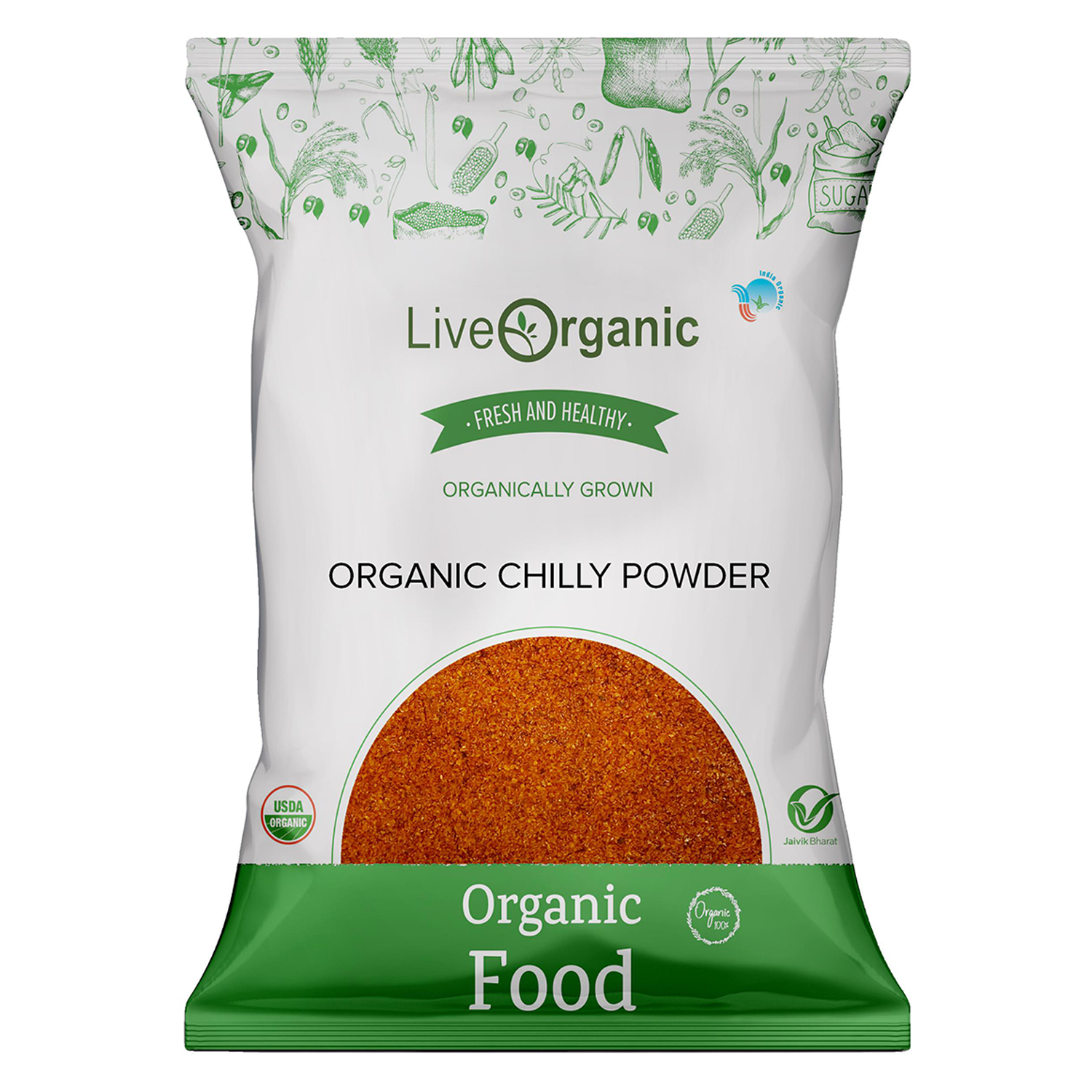 .Live Organic Red Chilly Powder 100G