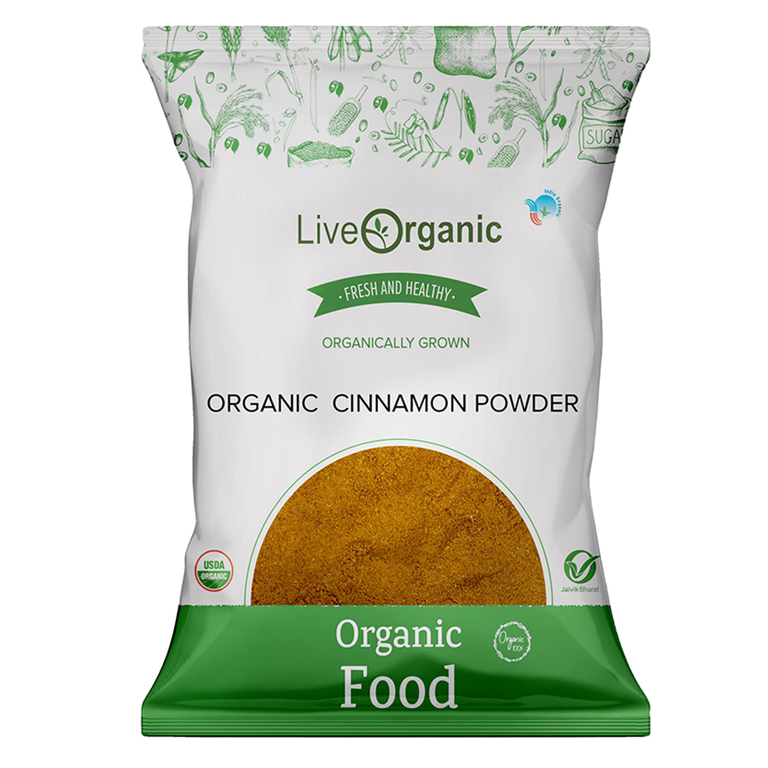 .Live Organic Cinnamon Powder 100G