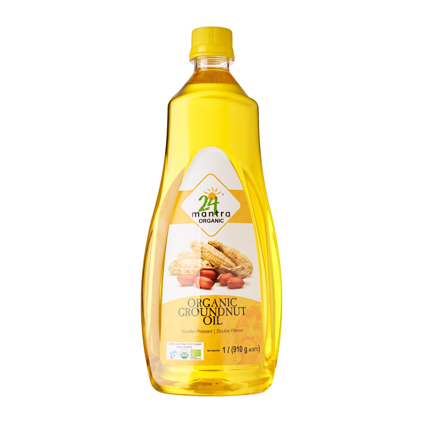 24 Mantra Groundnut Oil 1 Litre