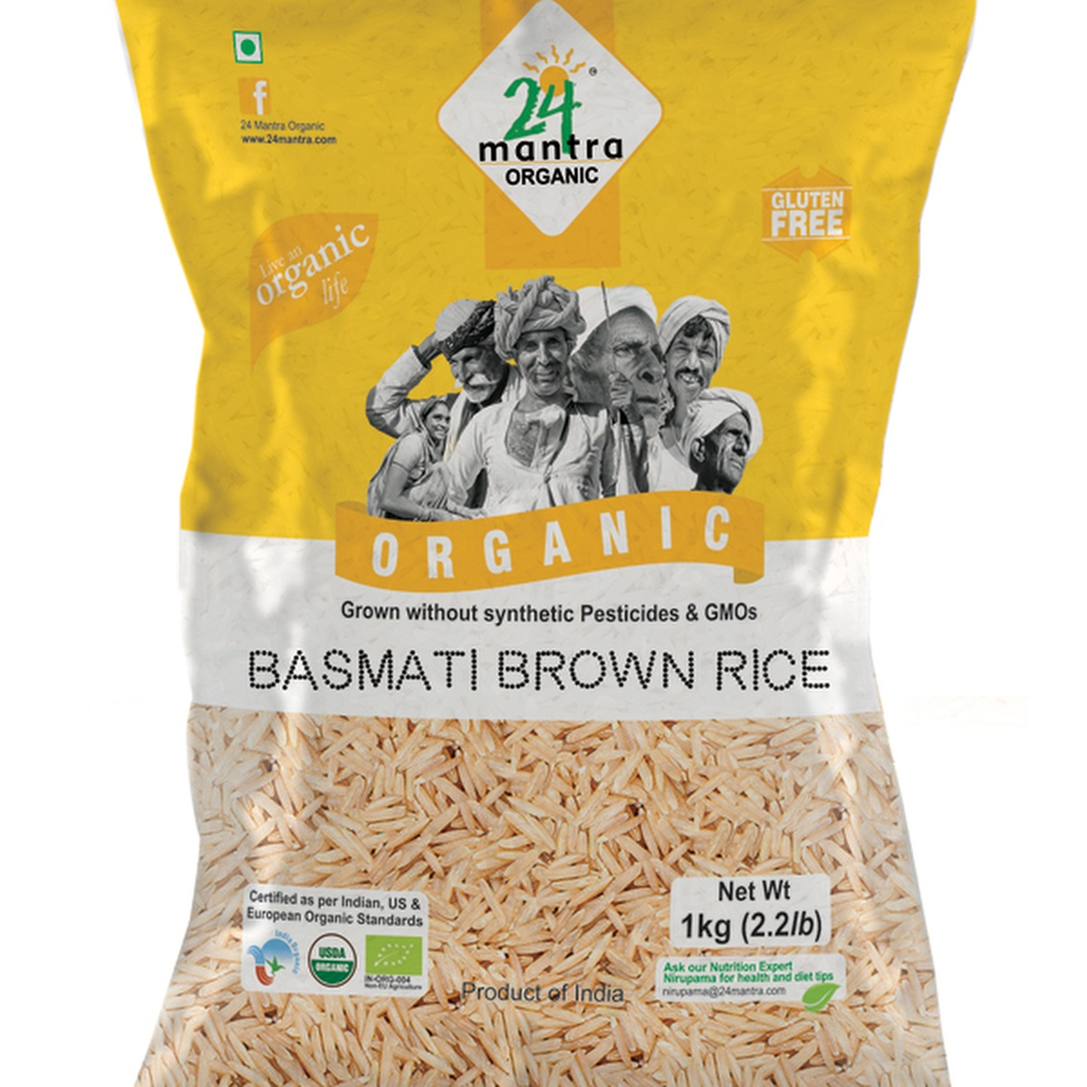 24 Mantra Basmati Brown Rice 1 Kg