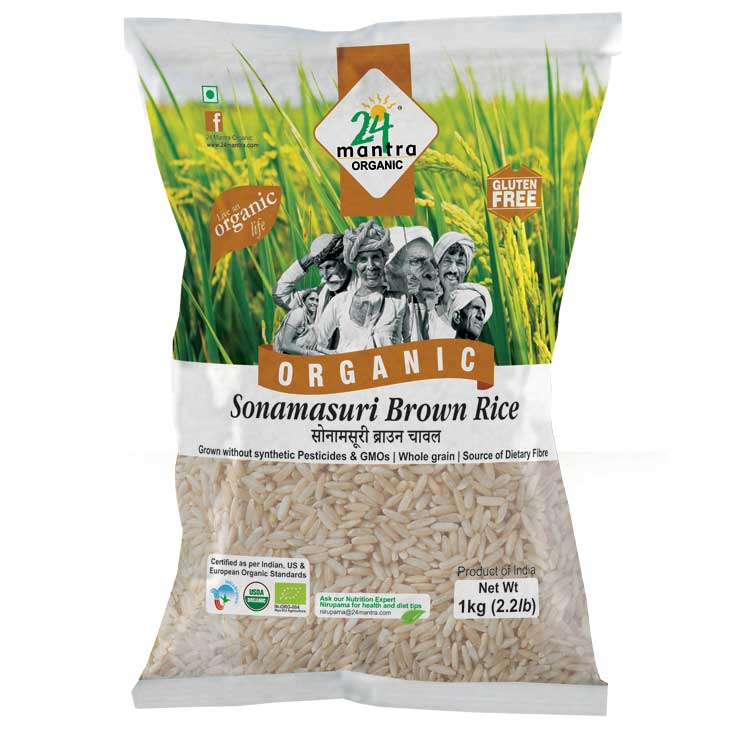 24 Mantra Sonamasuri Brown Rice 1 kg