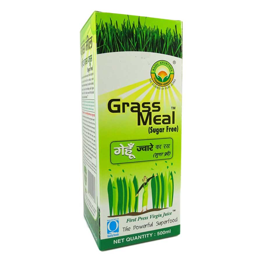 Basic Ayurveda Wheat Grass Meal, 1 Litre