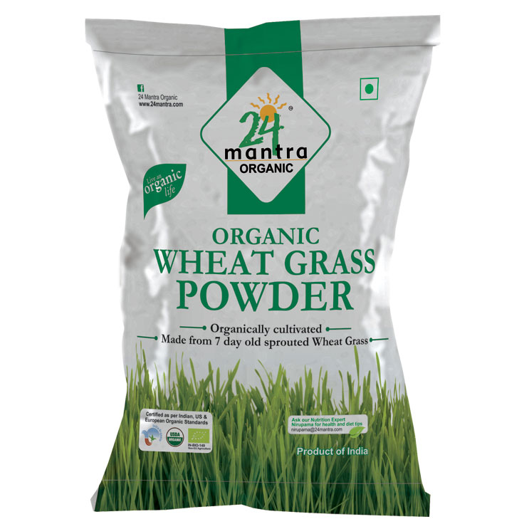 24 Mantra Wheat Grass Powder 100 gms