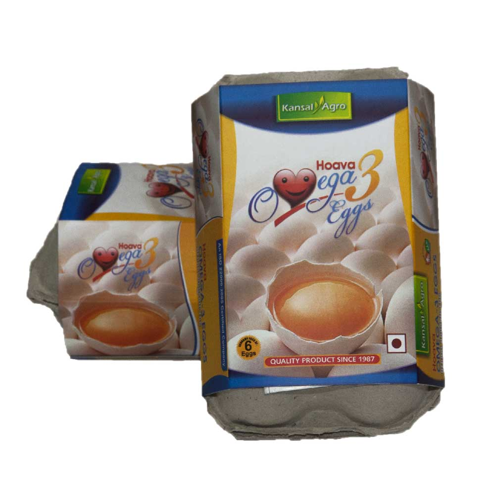 Kansal Omega-3 Eggs (Pack of 6 Eggs)
