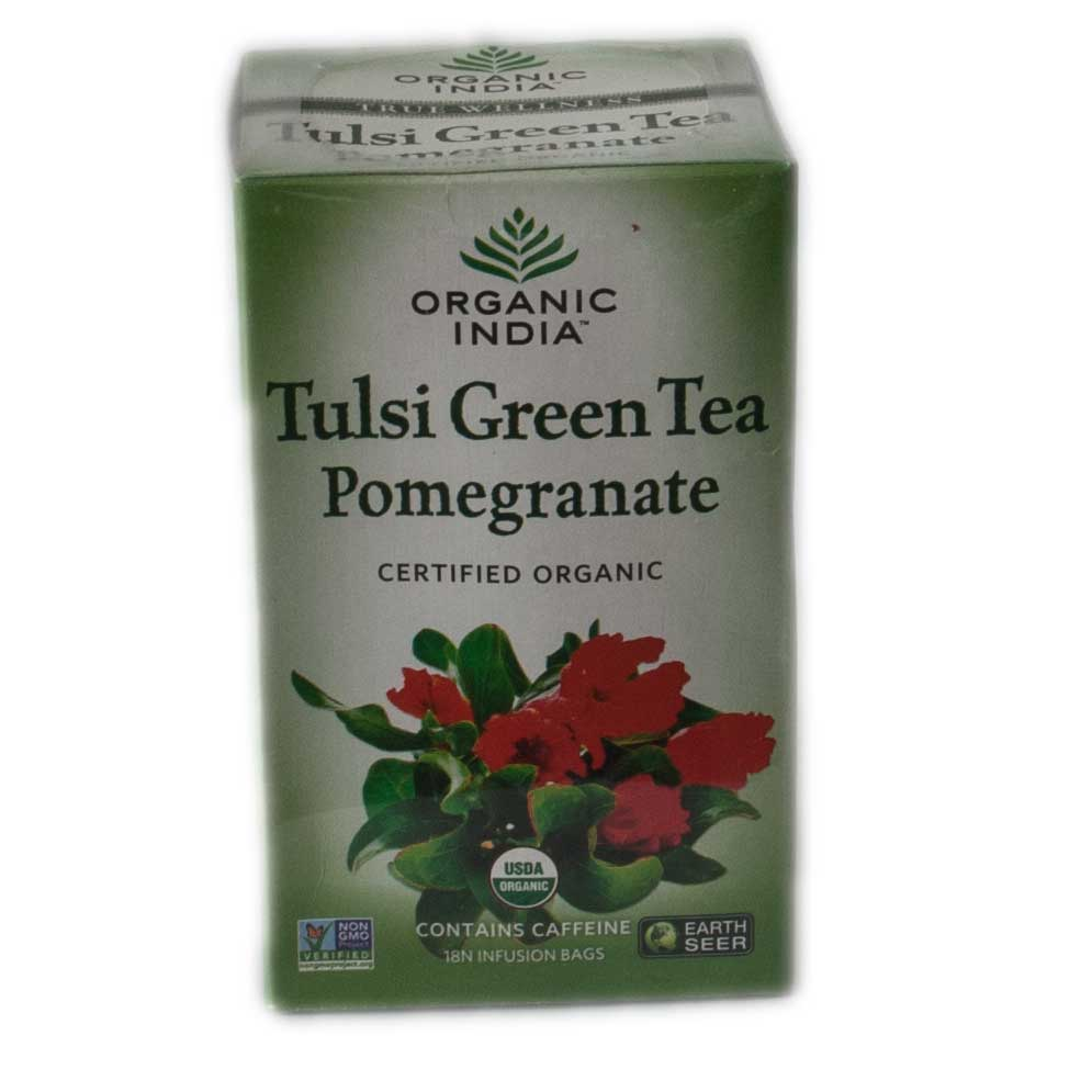 Organic India Tulsi Pomegranate Green Tea