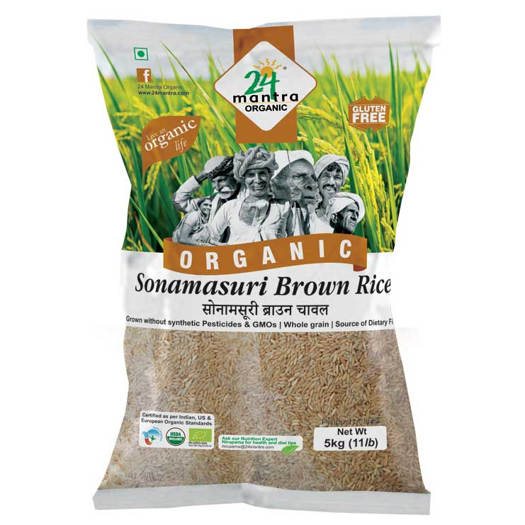 24 Mantra Sonamasuri Brown Rice 5 kg