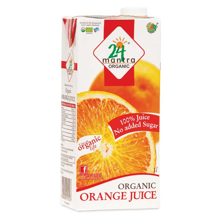24 Mantra Organic Orange Juice 1 Litre